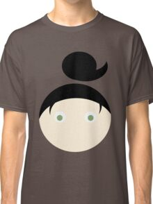 Black Hair Green Eyed Girl Classic T-Shirt