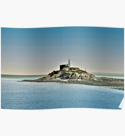 Mumbles Lighthouse, Swansea Poster