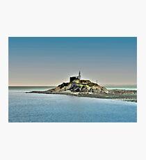 Mumbles Lighthouse, Swansea Photographic Print
