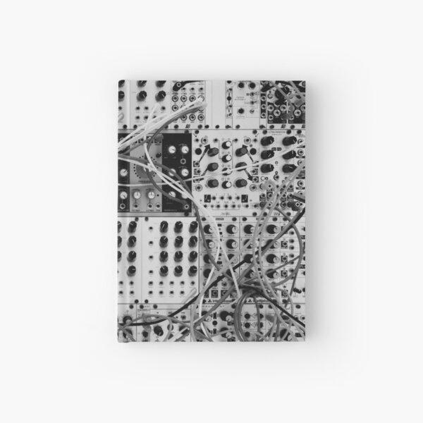 Analog Synthesizer - Modular Design - black & white Hardcover Journal