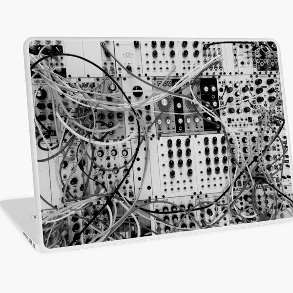 Analog Synthesizer - Modular Design - black & white Laptop Skin