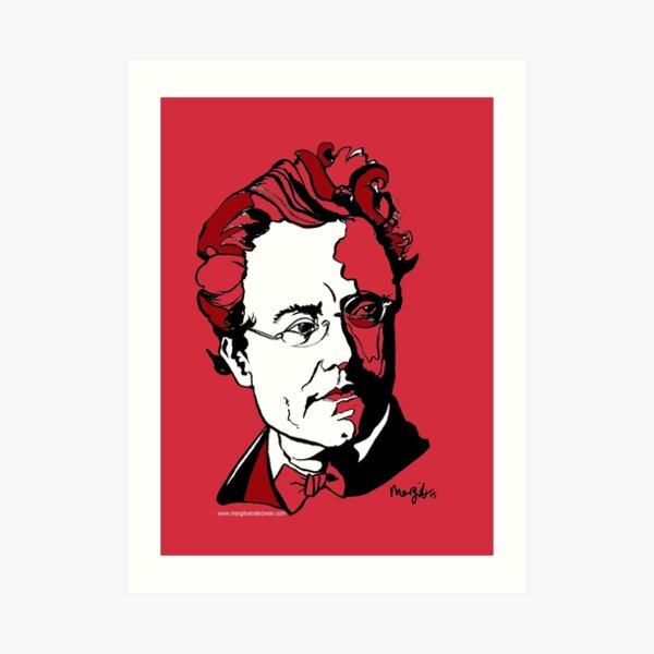 Gustav Mahler Composer Art Print