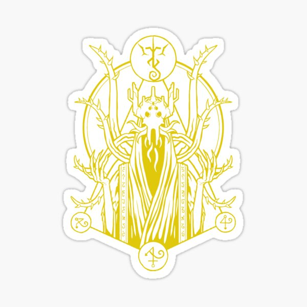 The King in Yellow - Yellow Sign Sticker