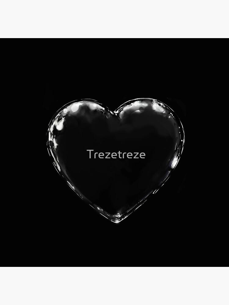 black metal heart (black on black) by Trezetreze