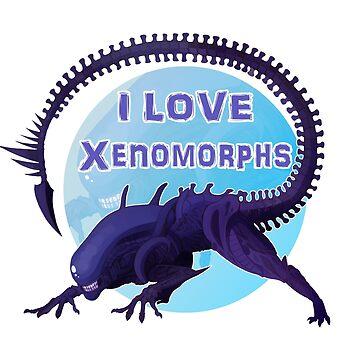 I love Xenomorphs by NERDthatDRAWS
