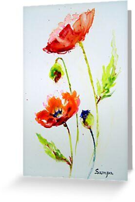 Red Poppy by Sampa Bhakta