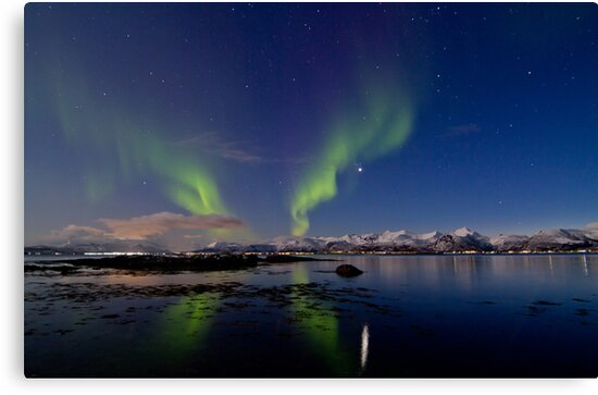 Aurora and the reef by Frank Olsen