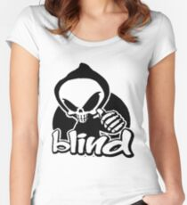 Blind skeleton. Women's Fitted Scoop T-Shirt