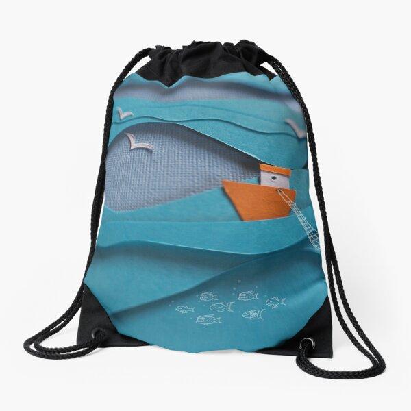 The deep blue sea... Drawstring Bag