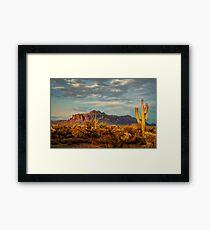 The Desert Golden Hour Framed Print