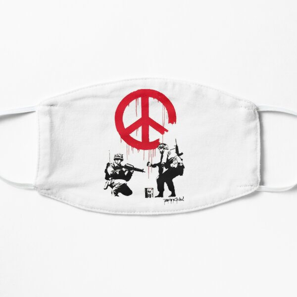 BANKSY Soldiers Paint Peace Sign Mask