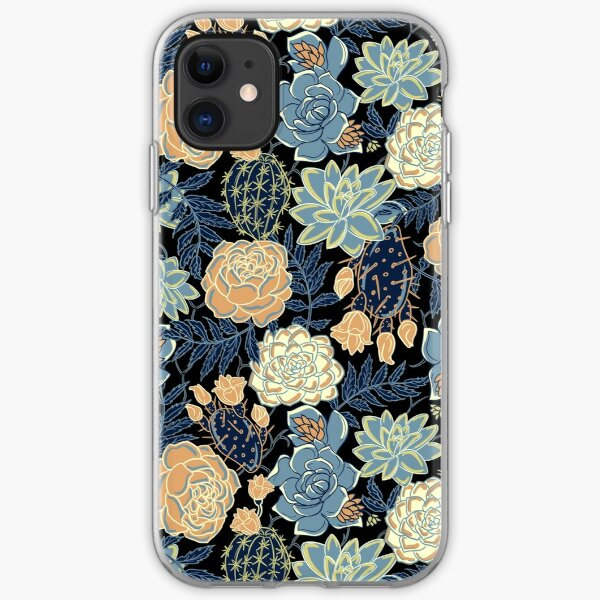 blue succulent iPhone Soft Case