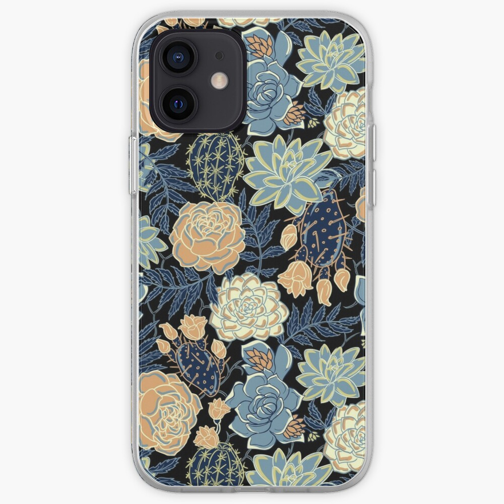 blue succulent iPhone Case & Cover