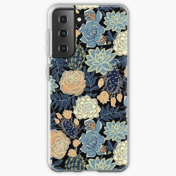 blue succulent Samsung Galaxy Soft Case