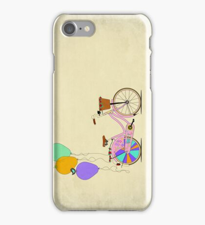 Love to Cycle on my Pink Bike iPhone Case/Skin