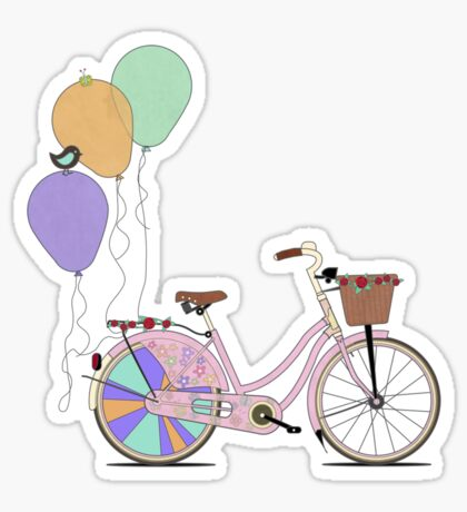 Love to Cycle on my Pink Bike Sticker