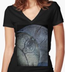 Puritan Headstones Women's Fitted V-Neck T-Shirt
