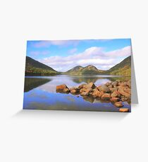 Jordan Pond, Acadia National Park Greeting Card