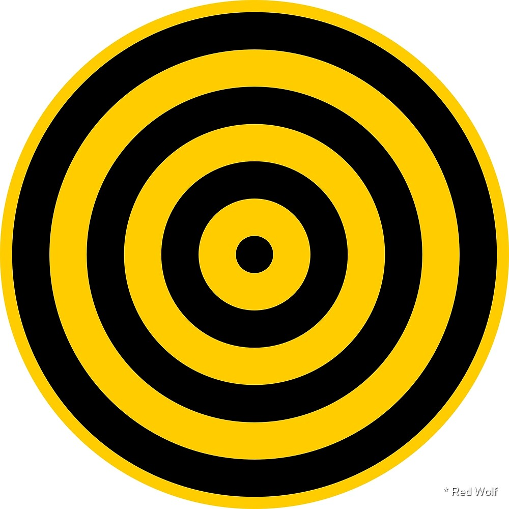 Geometric Pattern: Rondel: Black Yellow by * Red Wolf