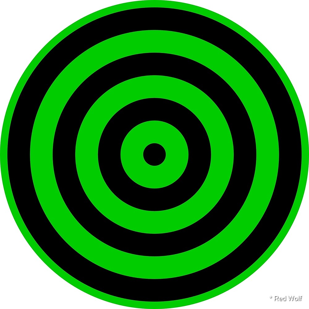 Geometric Pattern: Rondel: Black Green by * Red Wolf