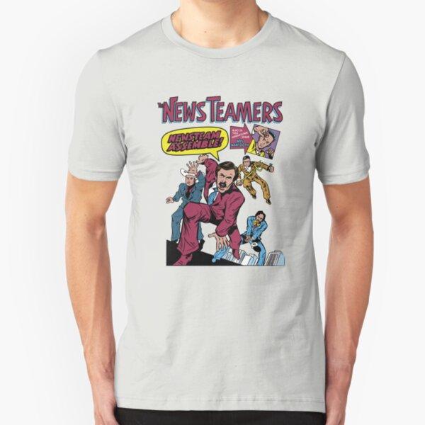 News Team Assemble! Slim Fit T-Shirt