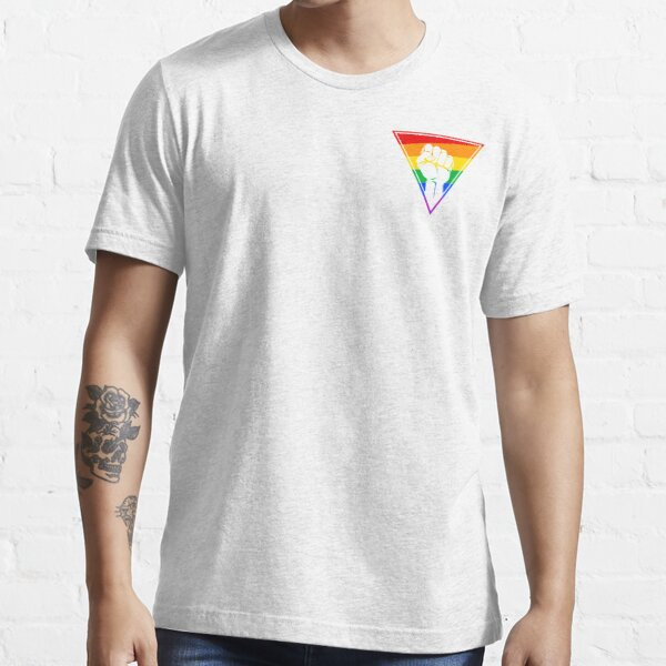 Pink Triangle - Keep on fighting, Rainbow Style Essential T-Shirt