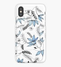 Blue flowers in my bed iPhone Case