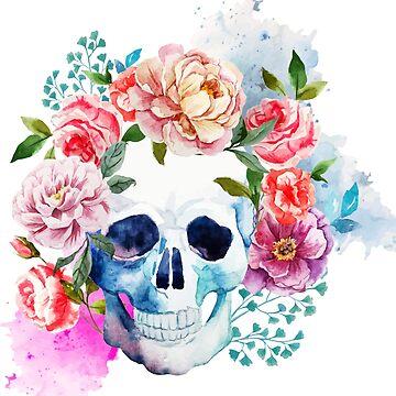 La Calavera de las Flores by afiretami