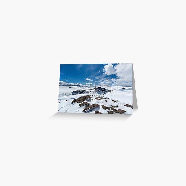 Mheadhoin, Etchachan and Macdui May Snow Greeting Card