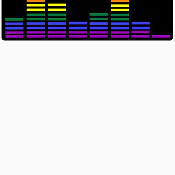 Rainbow Sound Bars (Black Backing) by emmarogers