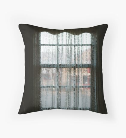 Window Lace Throw Pillow