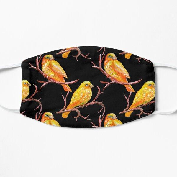 Yellow Canary Bird Pattern Mask