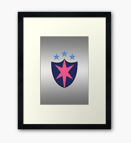 Shining Armor Chest Plate Framed Print