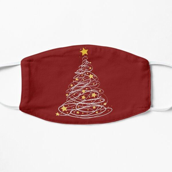 Golden Christmas Tree Pen Art Stars Cute Xmas Lover Gift  Flat Mask