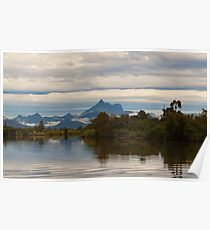 Mist over the Tweed River Poster
