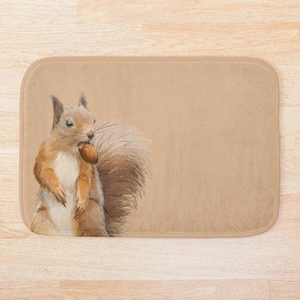 Squirreling Around Bath Mat