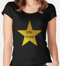 you tried (black) Women's Fitted Scoop T-Shirt