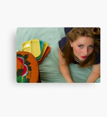 50s Retro Girl Canvas Print