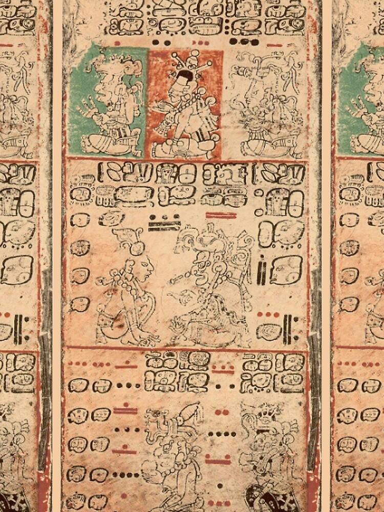 MAYA. MAYAN. Dresden Codex, Circa 11th or 12th century. by TOMSREDBUBBLE