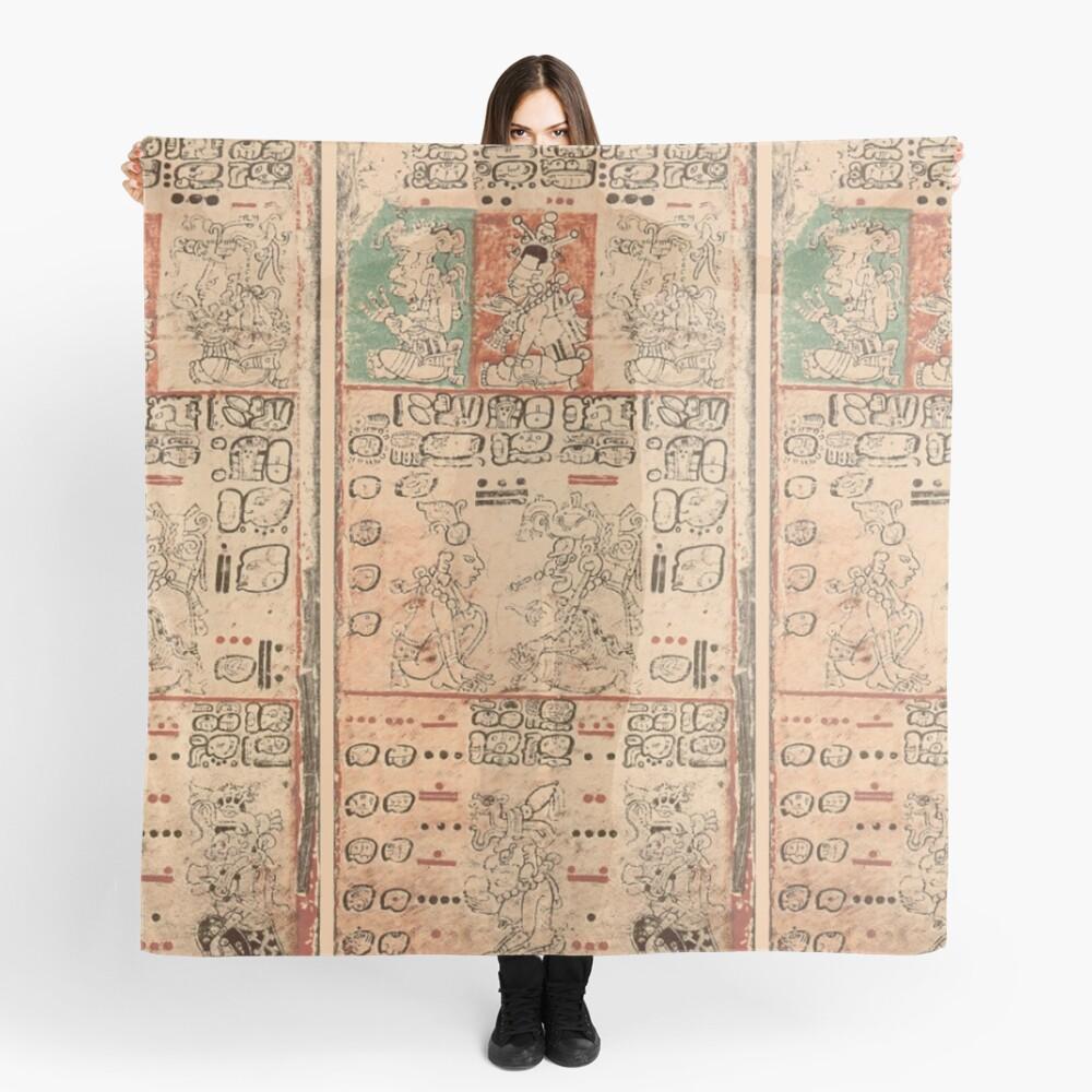MAYA. MAYAN. Dresden Codex, Circa 11th or 12th century. Scarf