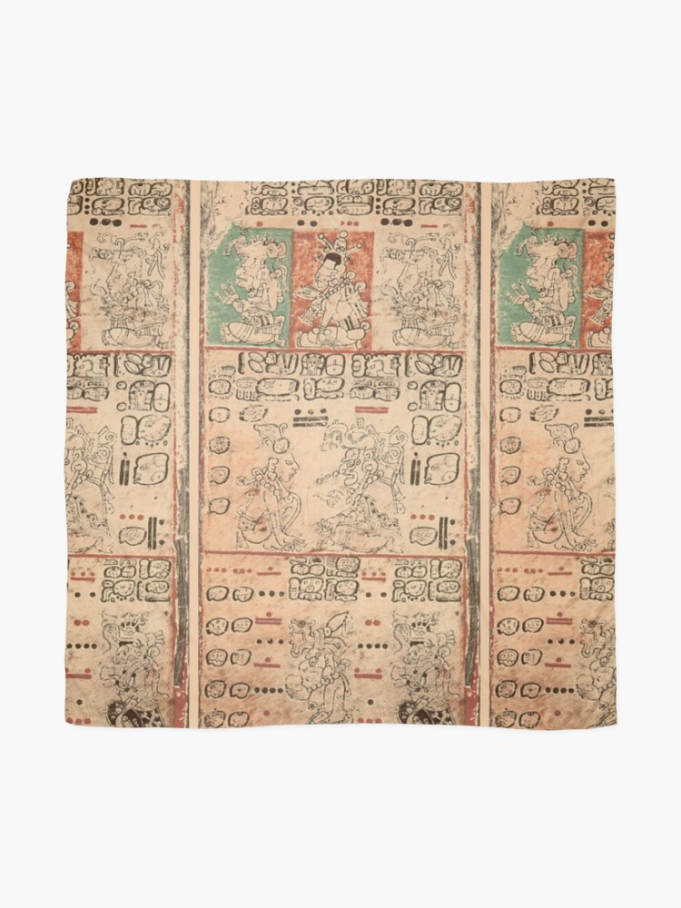 Alternate view of MAYA. MAYAN. Dresden Codex, Circa 11th or 12th century. Scarf