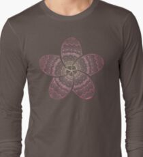 hippie pink frangipani mandala on gold coast night bokeh Long Sleeve T-Shirt