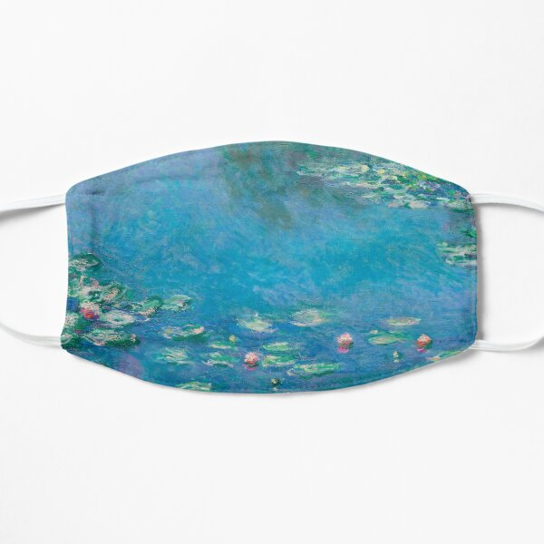 Water Lilies (1840-1926) by Claude Monet Flat Mask