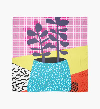 Shibby - neon 80's throwback potted plant indoor garden pink yellow red grid memphis los angeles palm springs resort hipster Scarf