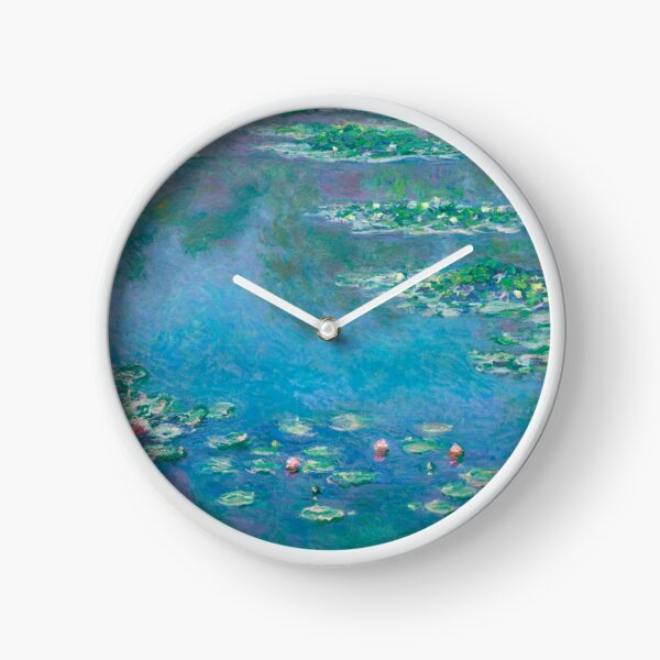 Water Lilies (1840-1926) by Claude Monet Clock