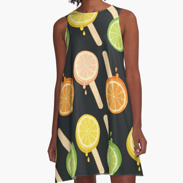 summer night popsicle - icecream A-Line Dress