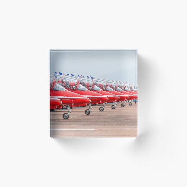 Red Arrows lined up Acrylic Block