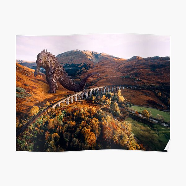 Glenfinnan Viaduct Landscape - with Monster Poster