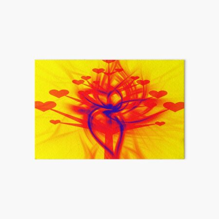 Valentine Tree of Hearts Art Board Print
