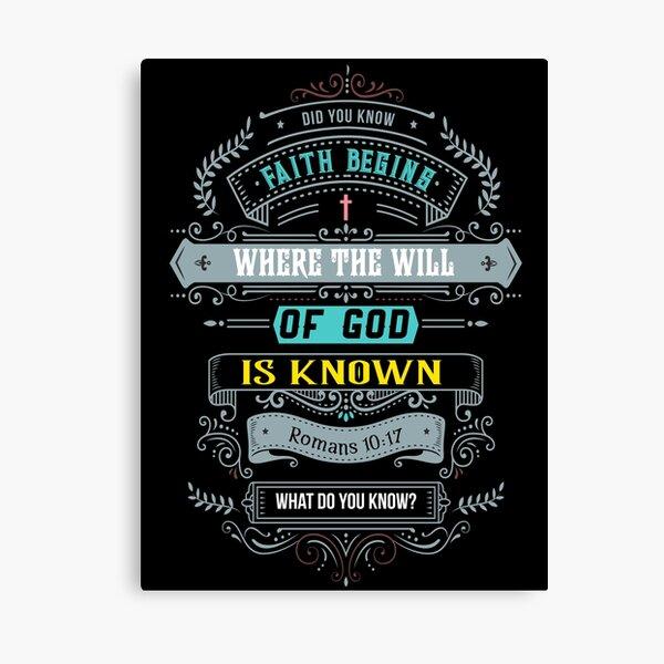 Faith Begins Canvas Print